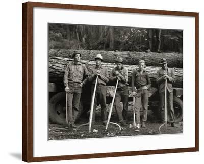 American Loggers, 1939--Framed Photographic Print