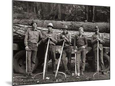 American Loggers, 1939--Mounted Photographic Print