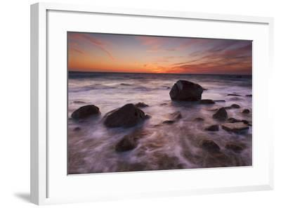 Rocks on Silky Water-Michael Blanchette-Framed Photographic Print