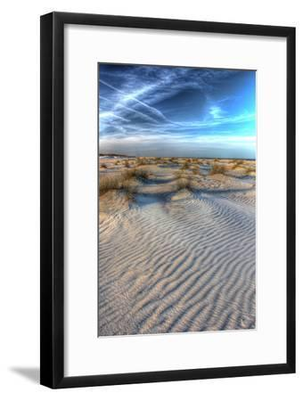 Dune Lines Vertical-Robert Goldwitz-Framed Photographic Print