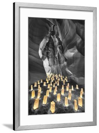 Candle Canyon BW - Pop-Moises Levy-Framed Photographic Print