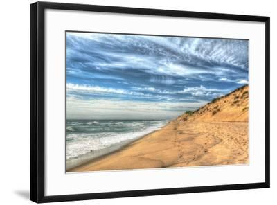 Footprints on Cape Cod Shore-Robert Goldwitz-Framed Photographic Print