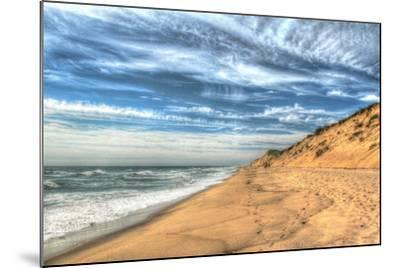 Footprints on Cape Cod Shore-Robert Goldwitz-Mounted Photographic Print