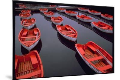 City Island Red Row Boats-Robert Goldwitz-Mounted Photographic Print