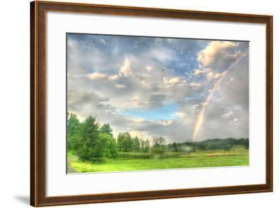 Rainbow and Heron-Robert Goldwitz-Framed Photographic Print
