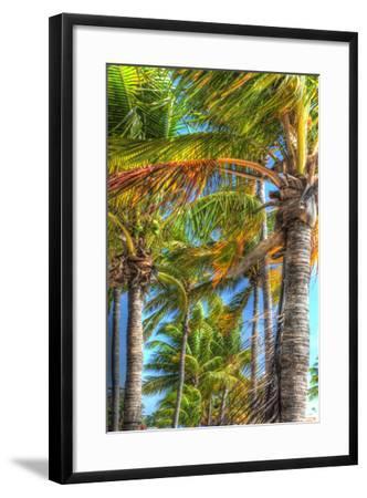 Palms Vertical-Robert Goldwitz-Framed Photographic Print