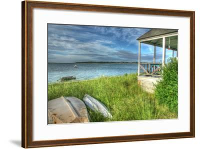 CC Porch and Boats-Robert Goldwitz-Framed Photographic Print