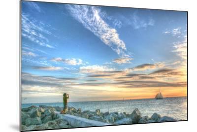 Key West Lone Figure Sunset-Robert Goldwitz-Mounted Photographic Print