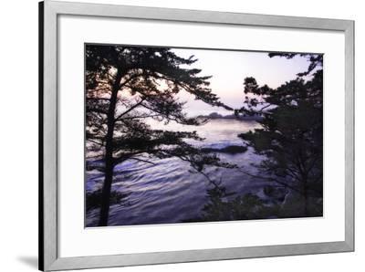 Carmel Highlands Sunset I-Alan Hausenflock-Framed Photographic Print