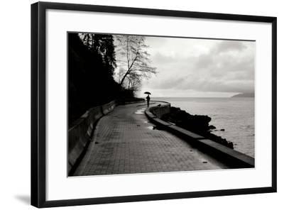 Walking in the Rain-Erin Berzel-Framed Photographic Print