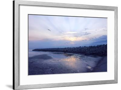 Cedar Island Sunrise-Alan Hausenflock-Framed Photographic Print