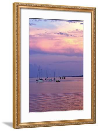 St. Augustine Harbor Sunset 4-Alan Hausenflock-Framed Photographic Print