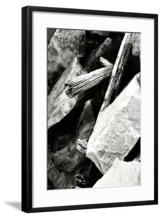 Rocks and Wood I BW-Alan Hausenflock-Framed Photographic Print