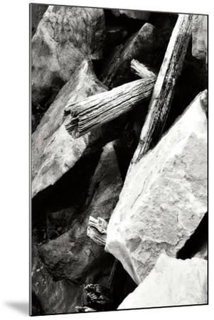 Rocks and Wood I BW-Alan Hausenflock-Mounted Photographic Print