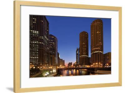 Chicago River Dusk I-Larry Malvin-Framed Photographic Print