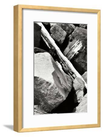 Rocks and Wood II BW-Alan Hausenflock-Framed Photographic Print