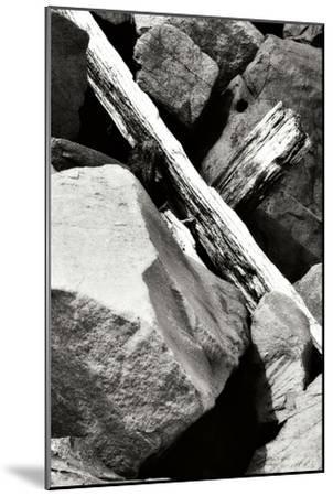 Rocks and Wood II BW-Alan Hausenflock-Mounted Photographic Print