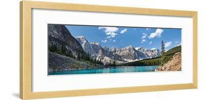 Moraine Lake Panorama-Larry Malvin-Framed Photographic Print