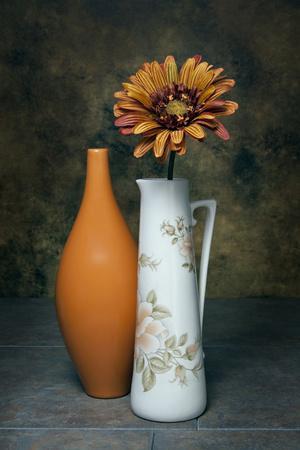 Orange Vase with Pitcher III-C^ McNemar-Framed Photographic Print