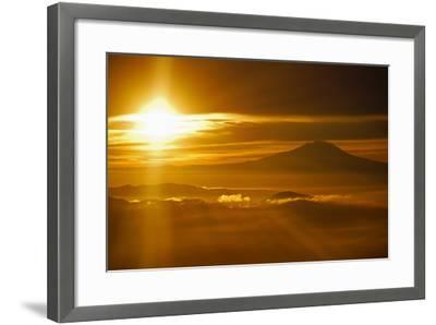 Rainier Sunset I-Brian Kidd-Framed Photographic Print