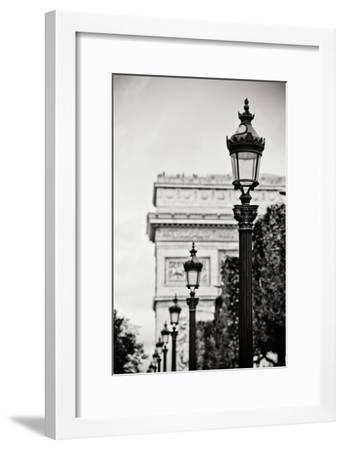 Parisian Lightposts BW I-Erin Berzel-Framed Photographic Print