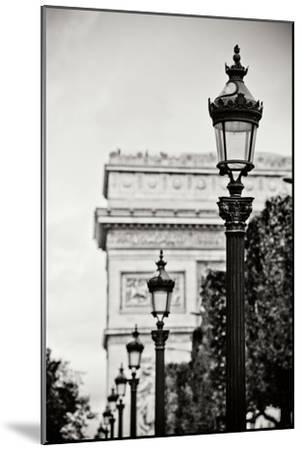Parisian Lightposts BW I-Erin Berzel-Mounted Photographic Print