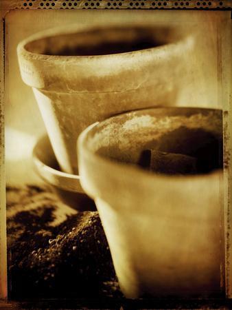 Terracotta Pots III-Bob Stefko-Framed Photographic Print