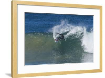 Surfing V-Lee Peterson-Framed Photographic Print