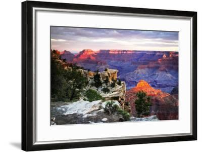Mather Point Sunset III-Alan Hausenflock-Framed Photographic Print