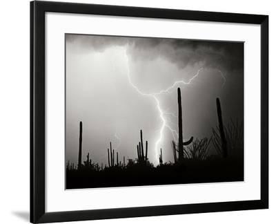 Electric Desert II BW-Douglas Taylor-Framed Photographic Print