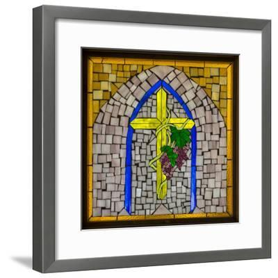 Stained Glass Cross I-Kathy Mahan-Framed Photographic Print