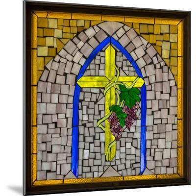Stained Glass Cross I-Kathy Mahan-Mounted Photographic Print