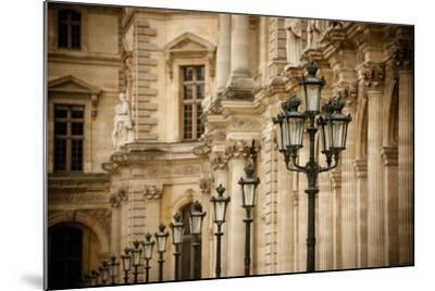 Louvre Lampposts I-Erin Berzel-Mounted Photographic Print