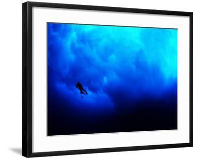 Undertow Along the Submerged Underwater Cliffs at Coco Island-Andrea Ferrari-Framed Photographic Print