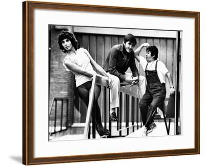 Paola Pitagora and Gianni Morandi on the Set of Jacopone--Framed Photographic Print