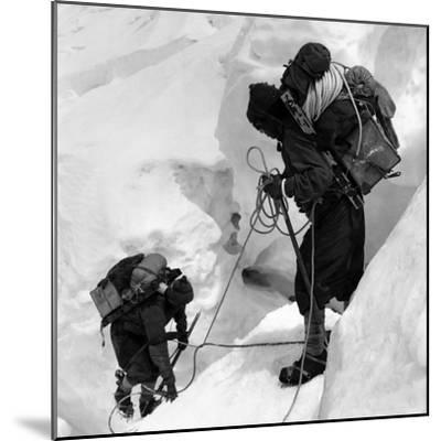 Alpinists Roped Together on the Mount Everest--Mounted Photographic Print