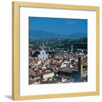 View of the District of Santa Croce, Florence--Framed Photographic Print