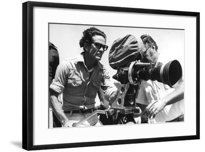 Pier Paolo Pasolini with a Camera--Framed Photographic Print