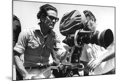 Pier Paolo Pasolini with a Camera--Mounted Photographic Print