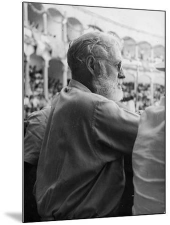 Ernest Hemingway at a Bullfight--Mounted Photographic Print