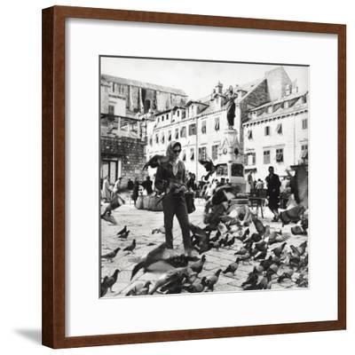 Dubrovnik's Marketplace--Framed Photographic Print