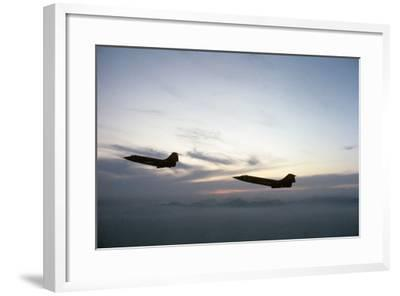 Two Fighter Planes Lockheed F-104 Starfighter in Flight--Framed Photographic Print
