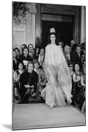 A Girl in a Tulle Dress Modeling at Palazzo Pitti--Mounted Photographic Print