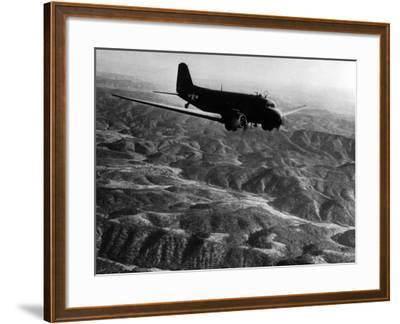 U.S. Plane Flying over the Himalayas--Framed Photographic Print