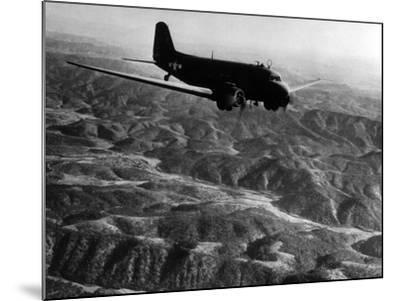 U.S. Plane Flying over the Himalayas--Mounted Photographic Print