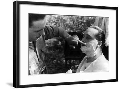 Maner Lualdi Getting a Shave--Framed Photographic Print