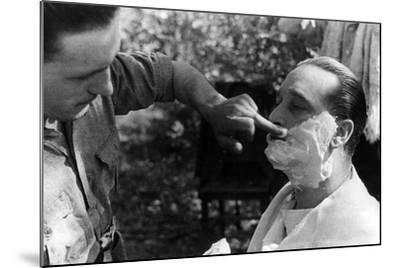 Maner Lualdi Getting a Shave--Mounted Photographic Print