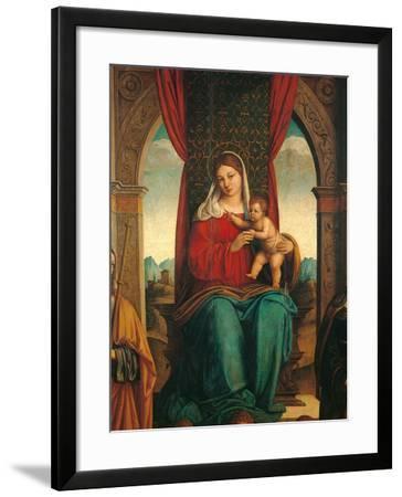Madonna and Child with Saints James of Galicia and Helena-Niccol Bartolomeo-Framed Photographic Print