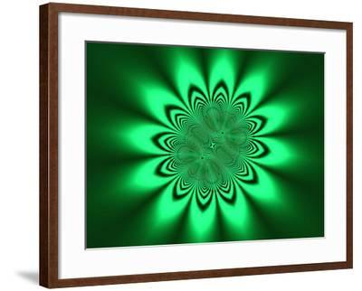 Abstract Pattern on Green Background-Albert Klein-Framed Photographic Print