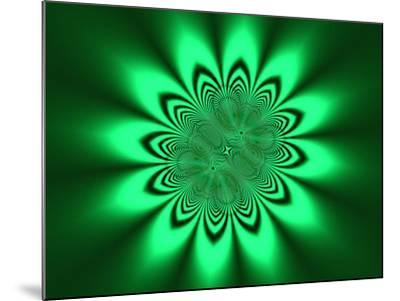 Abstract Pattern on Green Background-Albert Klein-Mounted Photographic Print